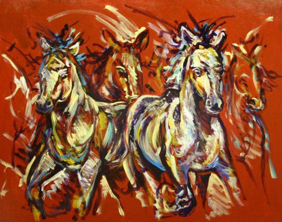 schilderij abstract dieren